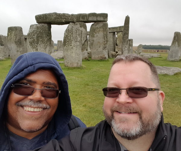 Doug and Victor at Stonehenge